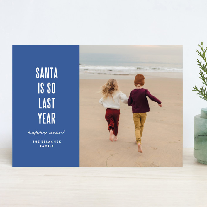 """""""So last year"""" - Modern New Year Photo Cards in Sailor by Susan Brown."""