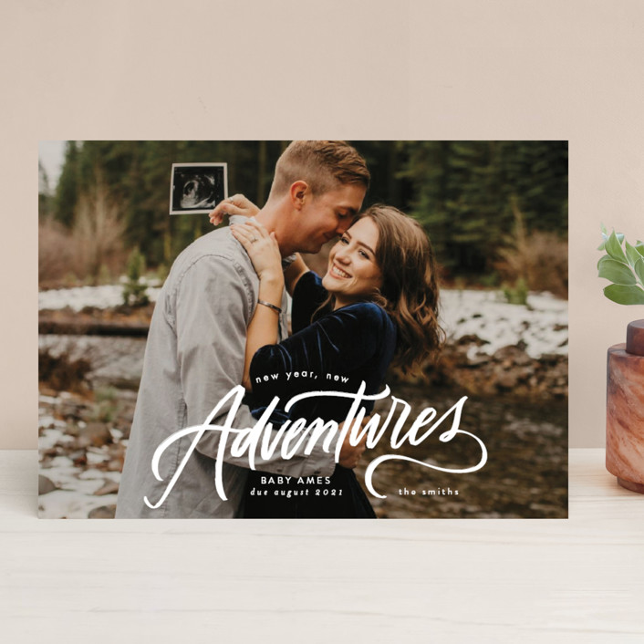"""New Year. New Adventures"" - New Year Photo Cards in Winter by Erin L. Wilson."
