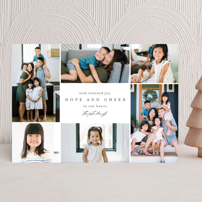 """""""Little Moments of Togetherness"""" - New Year Photo Cards in Hot Cocoa by Mansi Verma."""
