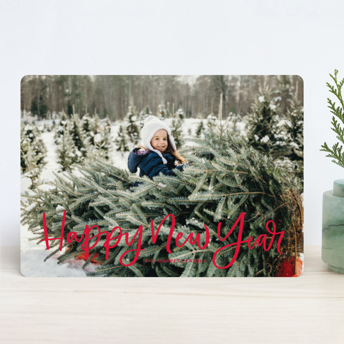 """""""Modern Merry Greeting"""" - New Year Photo Cards in Apple by Kristen Smith."""