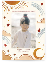 This is a brown new year photo card by Vivian Yiwing called Another Trip with standard printing on smooth signature in standard.