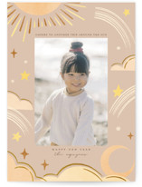 This is a beige new year photo card by Vivian Yiwing called Another Trip with standard printing on smooth signature in standard.