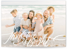 This is a white new year photo card by Wildfield Paper Co. called Very Bright with standard printing on pearlescent in standard.
