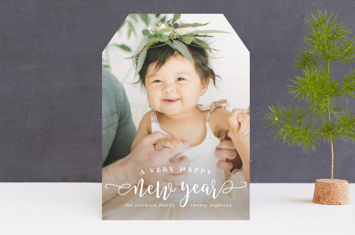 """""""Very happy"""" - New Year Photo Cards in Snow by Lea Delaveris."""