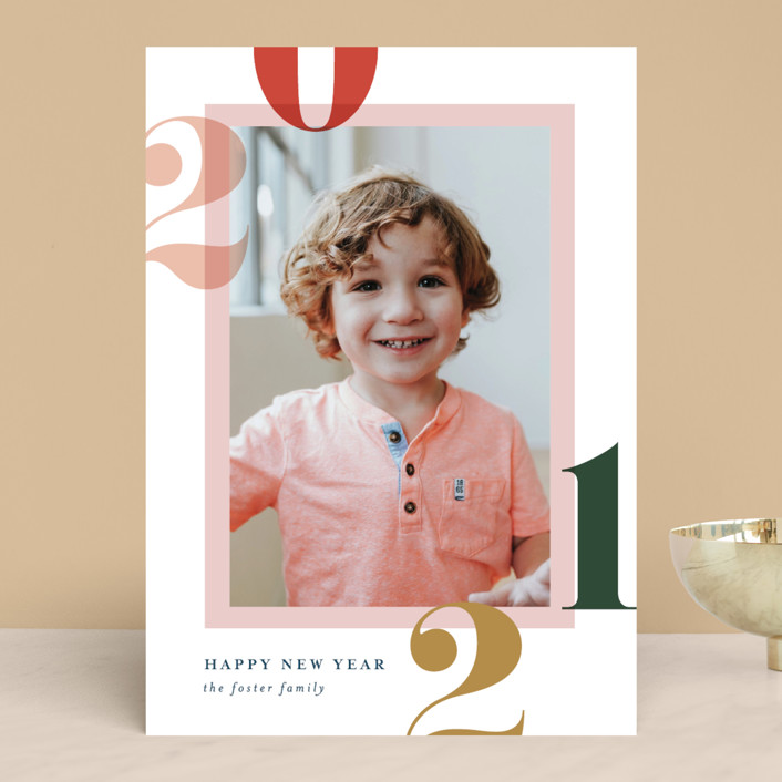 """""""Bright and Bold Year"""" - New Year Photo Cards in Sunrise by Pixel and Hank."""