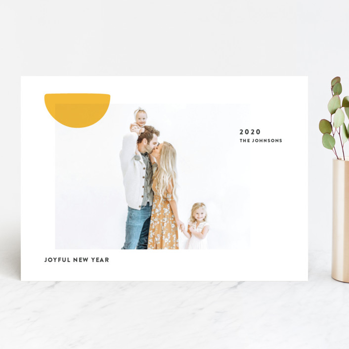"""Sunny"" - New Year Photo Cards in Sunshine by Sumak Studio."