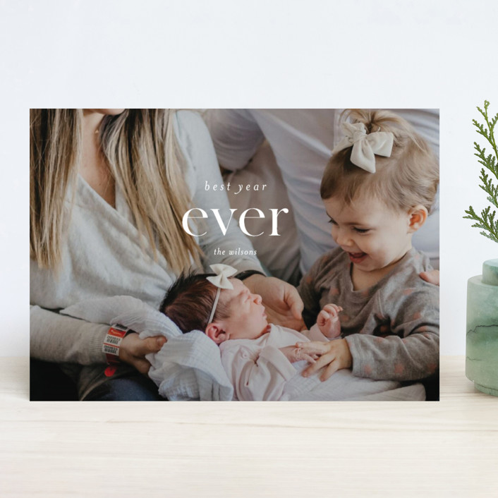 """Best Ever"" - New Year Photo Cards in Snow by Kasia Labocki."