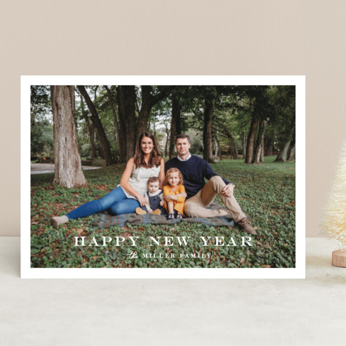 """""""Framed Happiness"""" - New Year Photo Cards in Cotton by Olivia Raufman."""