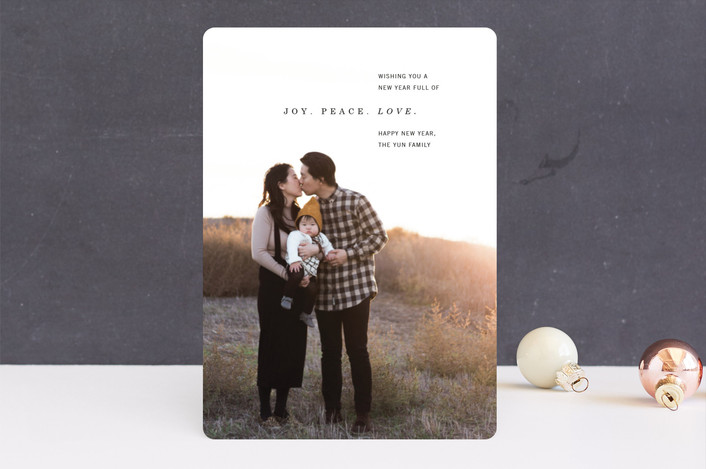 """New Year Wishes"" - New Year Photo Cards in Ebony by Lindsay Stetson Thompson."