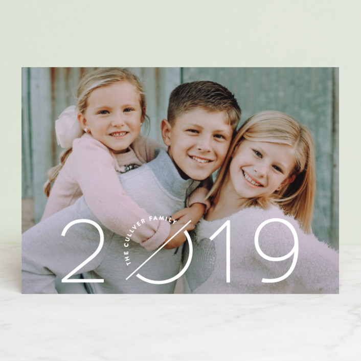 """Collide"" - Modern New Year Photo Cards in Snow by Pistols."