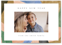 This is a pink new year photo card by Amy Kross called Narrows Edge with standard printing on smooth signature in standard.