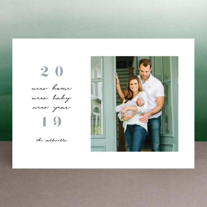 """""""All New"""" - New Year Photo Cards in Moon by Paula Pecevich."""