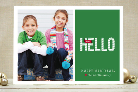 A BIG Hello New Year Photo Cards