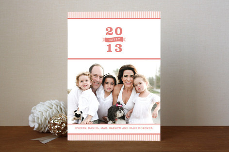 Bold 2012 New Year Photo Cards