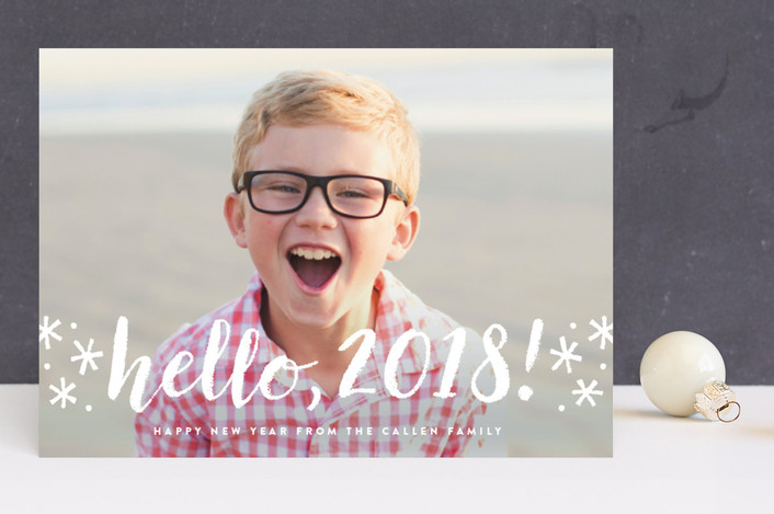 """hello there new year"" - New Year Photo Cards in Frost by Sara Hicks Malone."