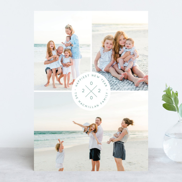 """""""modern seal"""" - New Year Photo Cards in Mint by Kann Orasie."""