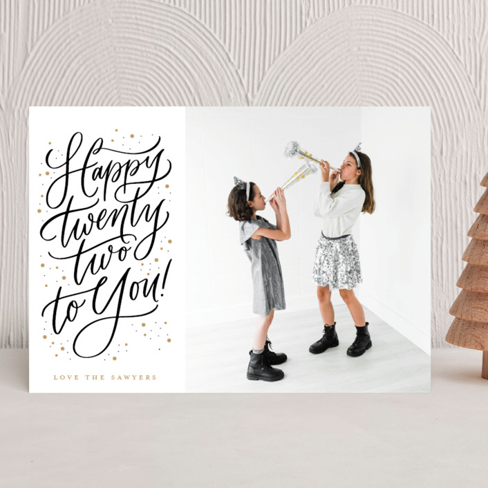 """""""Happy 22"""" - New Year Photo Cards in Sparkle by Erin German."""