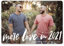 This is a white new year photo card by Alicia Schultz called More Love with standard printing on smooth signature in standard.