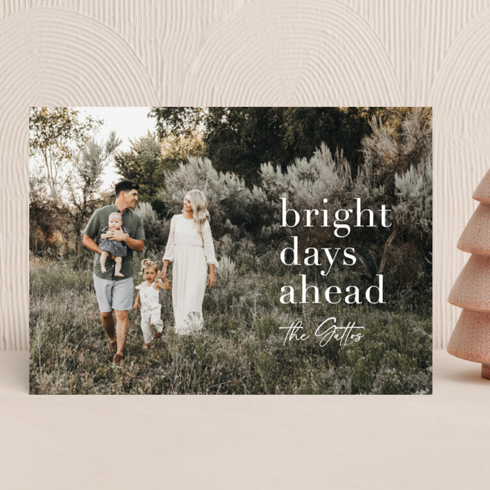 """""""bright days ahead"""" - New Year Photo Cards in Whitelight by Sara Hicks Malone."""
