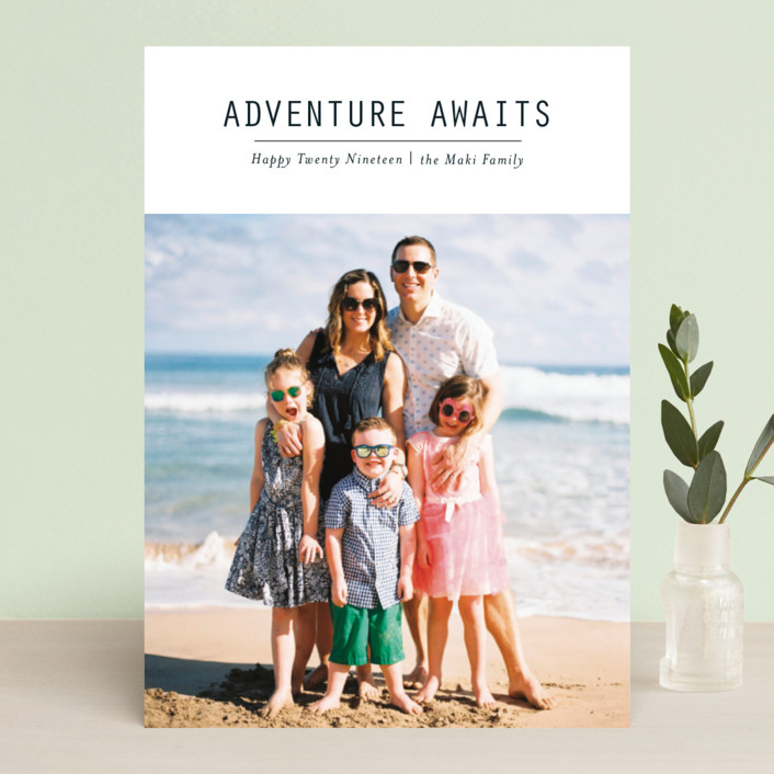 """""""Adventure Awaits"""" - New Year Photo Cards in Ink by Loren Willis."""