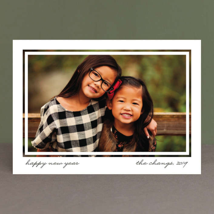 """""""Artifact"""" - New Year Photo Cards in Charcoal by Snow and Ivy."""