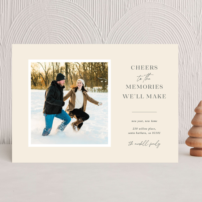 """""""New Year, New Home"""" - New Year Photo Cards in Buttercup by Blustery August."""