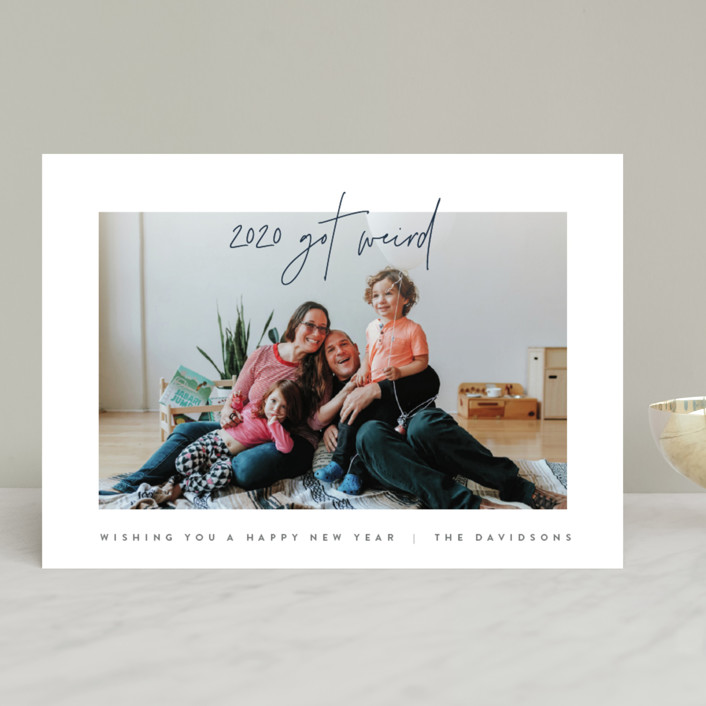 """""""Simplicity"""" - New Year Photo Cards in Navy by JoAnn Jinks."""
