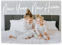 This is a white new year photo card by Liz Conley called A Signature Holiday with standard printing on signature in standard.