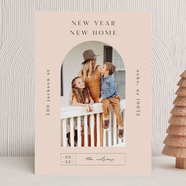 """""""Doorway."""" - New Year Photo Cards in Mauve by Nazia Hyder."""