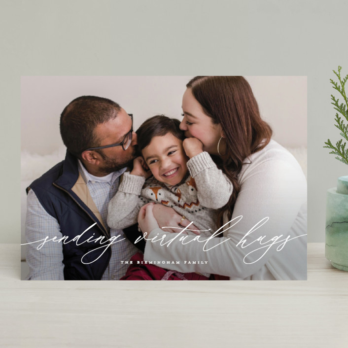 """""""Christmas Letter"""" - New Year Photo Cards in Snowflake by Wildfield Paper Co."""