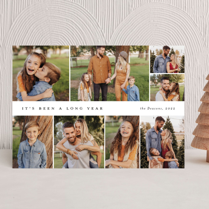 """Many memories"" - New Year Photo Cards in Cotton by Stacey Meacham."