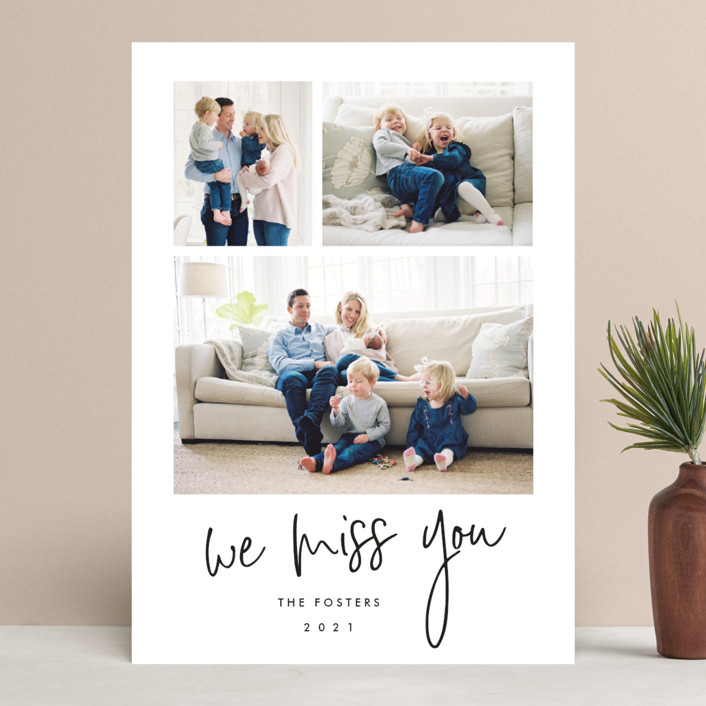 """""""Photo shoot"""" - New Year Photo Cards in Cotton by Stacey Meacham."""