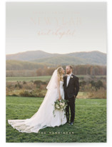 This is a pink new year photo card by Oscar and Emma - Karly Depew called More to Come with standard printing on smooth signature in standard.
