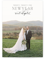 This is a black new year photo card by Oscar and Emma called More to Come with standard printing on smooth signature in standard.