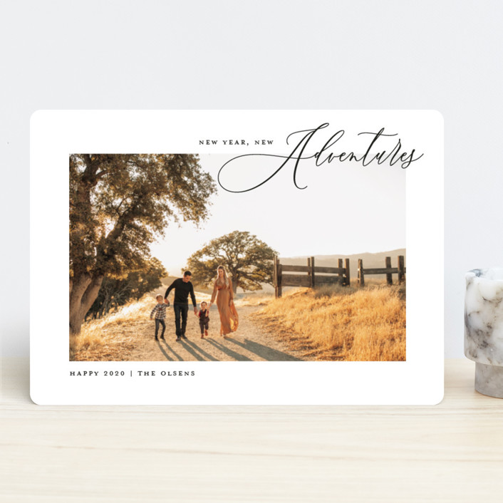 """""""Sonoma"""" - New Year Photo Cards in Coal by annie clark."""