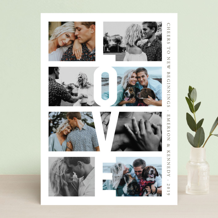 """""""New Year, New Chapter"""" - New Year Photo Cards in Pearl by Playground Prints."""