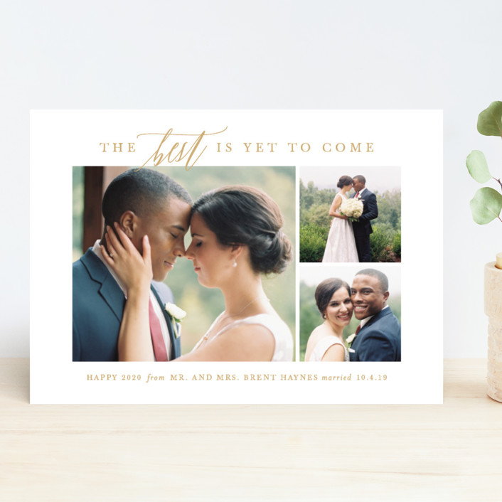 """To Come"" - New Year Photo Cards in Antique by Lauren Chism."