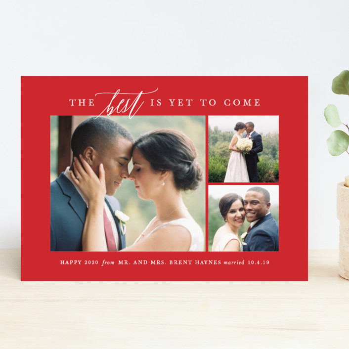 """To Come"" - New Year Photo Cards in Tuxedo by Lauren Chism."