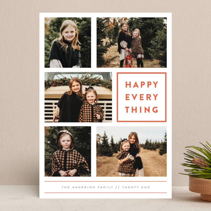 """Every Happy Thing"" - New Year Photo Cards in Marmalade by Michelle Poe."