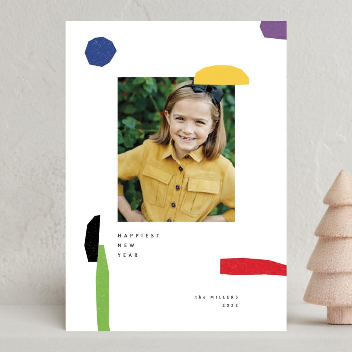 """joyful elements"" - Modern New Year Photo Cards in Fun by Sumak Studio."