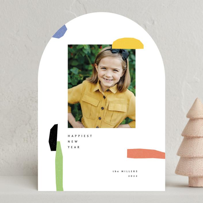 """joyful elements"" - Modern New Year Photo Cards in Pie by Sumak Studio."