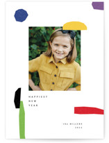 This is a colorful new year photo card by Sumak Studio called joyful elements with standard printing on smooth signature in standard.