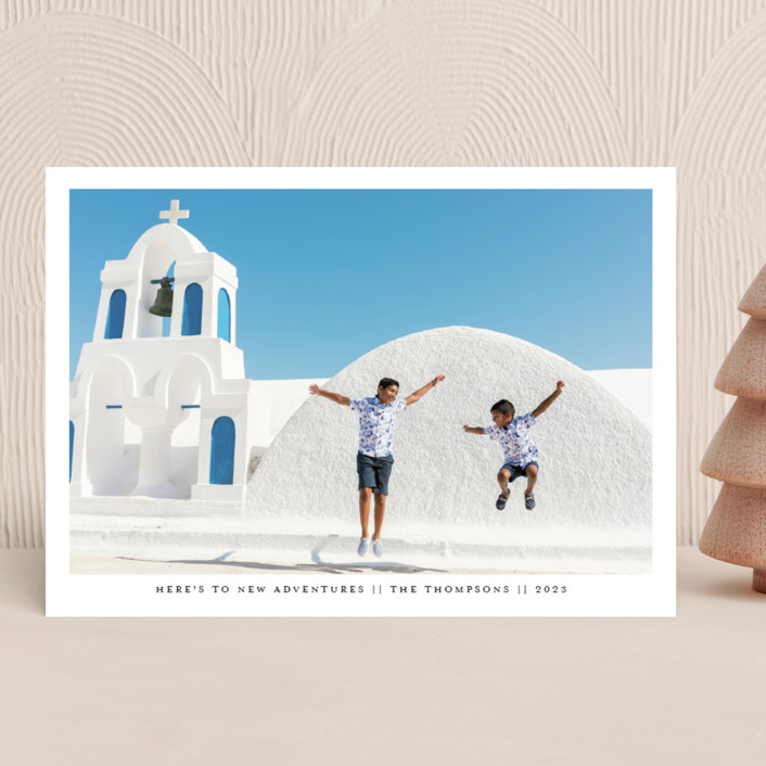 """""""New Adventures New Year"""" - New Year Photo Cards in Midnight by Ashlee Townsend."""
