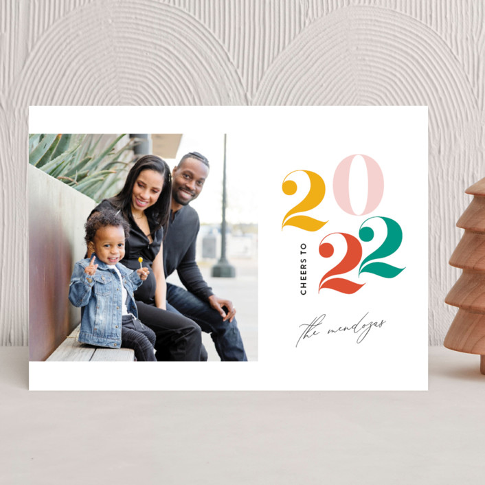 """""""The Year"""" - New Year Photo Cards in Scarlet by Genna Blackburn."""