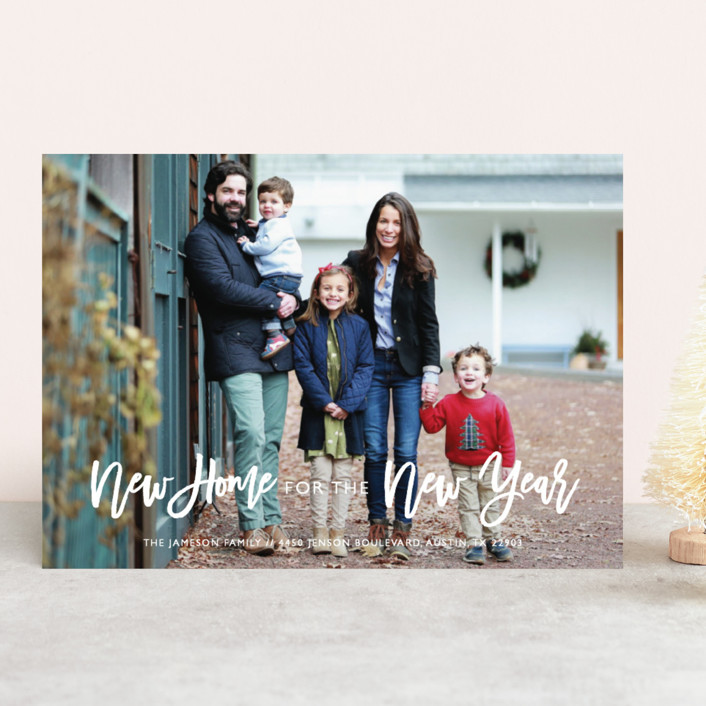 """New Home"" - New Year Photo Cards in Midnight by Bethany Anderson."
