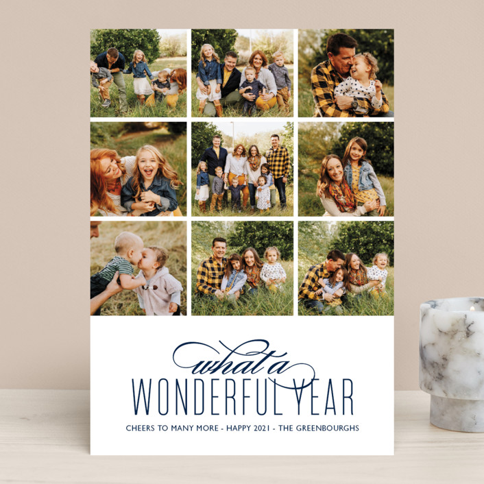 """""""A Wonderful Year"""" - New Year Photo Cards in Tuxedo by Kaydi Bishop."""