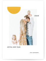 This is a yellow new year photo card by Sumak Studio called Sunny with standard printing on smooth signature in standard.