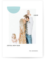 This is a blue new year photo card by Sumak Studio called Sunny with standard printing on smooth signature in standard.