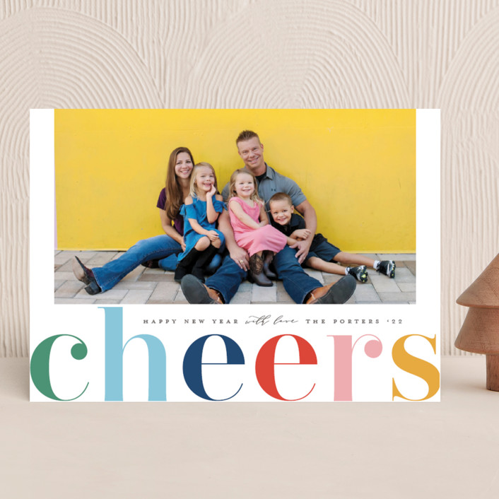 """""""Cheers in Color"""" - New Year Photo Cards in Royal by Michelle Taylor."""