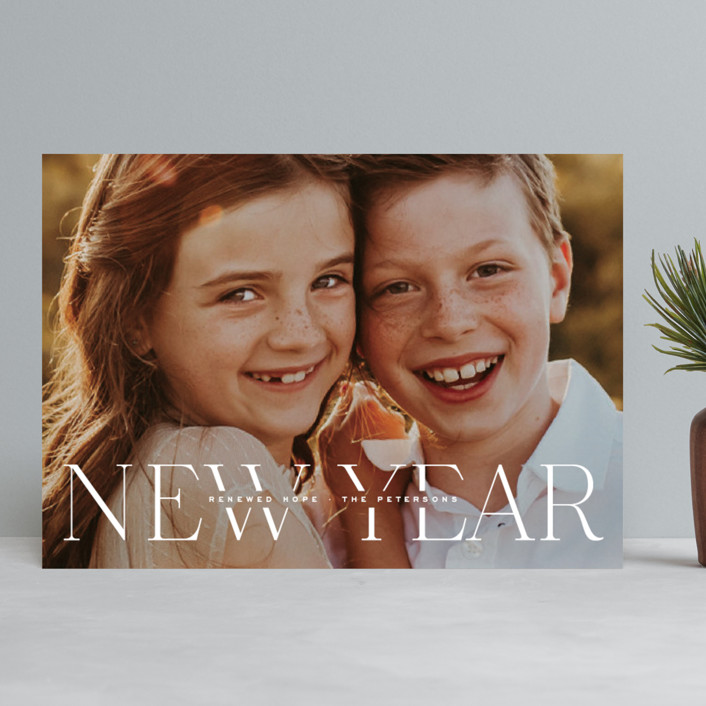 """""""Renewed Hope"""" - New Year Photo Cards in Snow by Hooray Creative."""